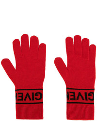 Gants en tricot rouges Givenchy