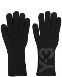 Gants imprimés noirs Y-3