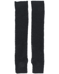 Gants longs en laine gris foncé MM6 MAISON MARGIELA