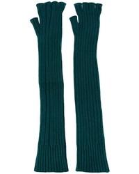 Gants longs en laine vert foncé Maison Margiela