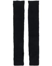 Gants longs en tricot noirs MM6 MAISON MARGIELA