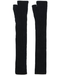 Gants longs noirs Balmain