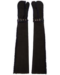 Gants longs noirs Sacai