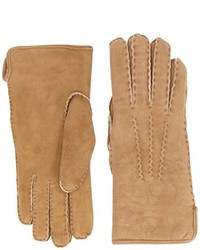 Gants marron clair Dents