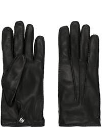 Gants noir Alexander McQueen