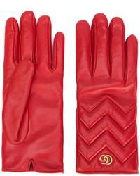 Gants rouges Gucci