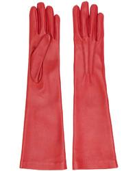 Gants rouges Jil Sander