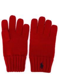 Gants rouges Ralph Lauren
