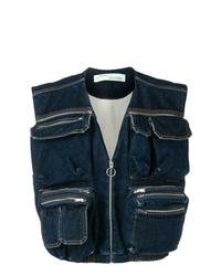 Gilet en jean bleu marine Off-White