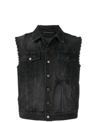Gilet en jean noir