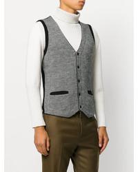 Gilet en laine en tricot gris Lardini