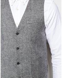 Gilet en laine gris Asos