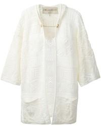 Gilet en tricot blanc Emilio Pucci