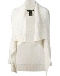 Gilet en tricot blanc Ralph Lauren