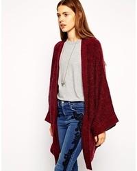 Gilet en tricot bordeaux Asos