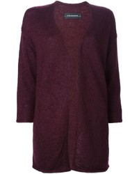 Gilet en tricot bordeaux By Malene Birger