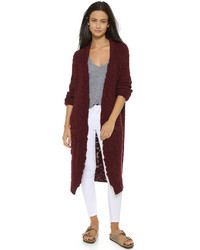 Gilet en tricot bordeaux Sea
