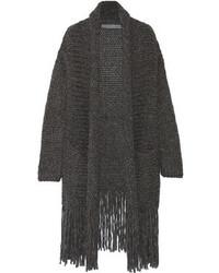 Gilet en tricot gris foncé Raquel Allegra