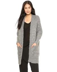 Gilet en tricot gris DKNY