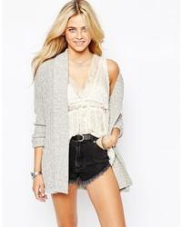Gilet en tricot gris Fashion Union