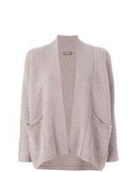 Gilet en tricot gris N.Peal
