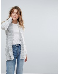 Gilet en tricot gris New Look