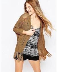 Gilet en tricot marron clair Vero Moda