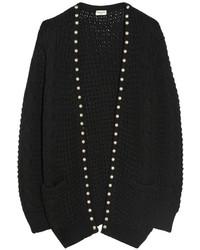 Gilet en tricot noir Saint Laurent