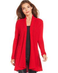 Gilet en tricot rouge