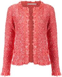 Gilet en tricot rouge Cecilia Prado