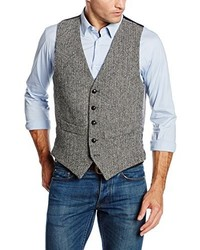 Gilet gris Harris Tweed