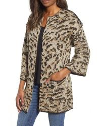 Gilet imprimé léopard marron clair