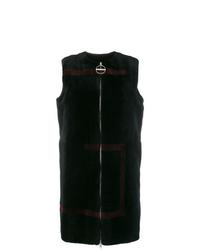 Gilet sans manches en fourrure noir Givenchy