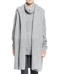 Gilet sans manches en tricot gris