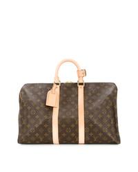 Grand sac brun Louis Vuitton Vintage