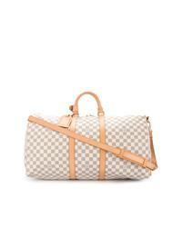 Grand sac en cuir beige Louis Vuitton Vintage