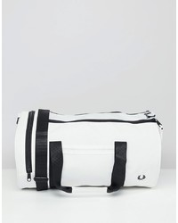 Grand sac en cuir blanc Fred Perry