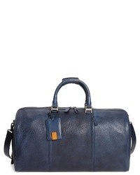 Grand sac en cuir bleu marine