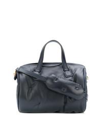 Grand sac en cuir bleu marine Anya Hindmarch