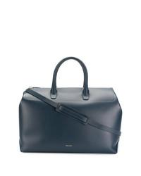 Grand sac en cuir bleu marine Mansur Gavriel