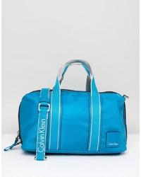 Grand sac en cuir bleu Calvin Klein