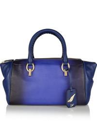 Grand sac en cuir bleu Diane von Furstenberg
