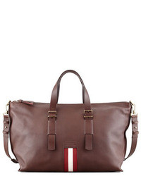 Grand sac en cuir bordeaux