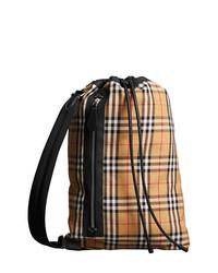 Grand sac en cuir brun clair Burberry