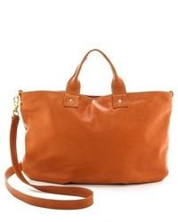 Grand sac en cuir brun clair Clare Vivier