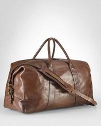 Grand sac en cuir brun