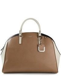 Grand sac en cuir brun Ani