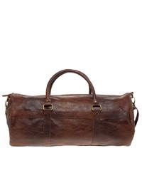 Grand sac en cuir brun Asos
