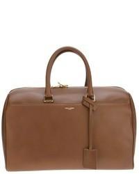 Grand sac en cuir brun Saint Laurent