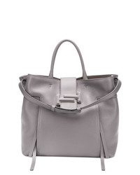 Grand sac en cuir gris Tod's